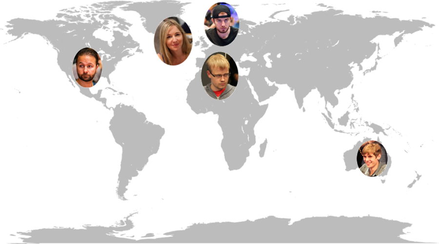 Poker-player World Map