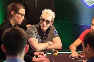 Bertrand 'ElkY' Grospellier seen here representing France at the Global Poker Masters