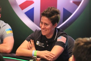 Vanessa Selbst, seen here competing in Day 1 of the Global Poker Masters