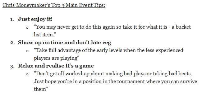 moneymaker tips