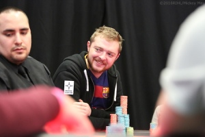 Adam sporting the Backdoor Quads patch at EPT Dublin earlier this year